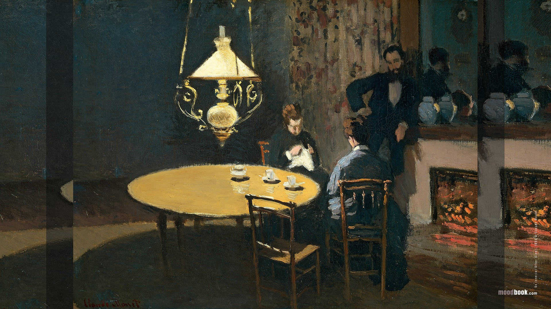 Famous Interior Paintings: MoodBook. Fine Art Wallpapers