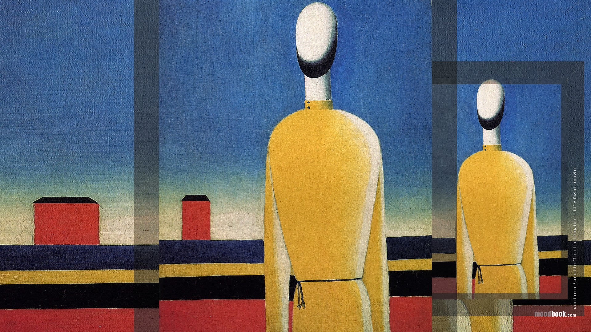 malevich complicated premonition torso in a yellow shirt wallpaper